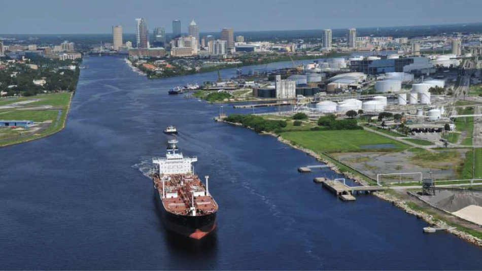 New marine channels forecast in Tampa gives ships a better navigation guide