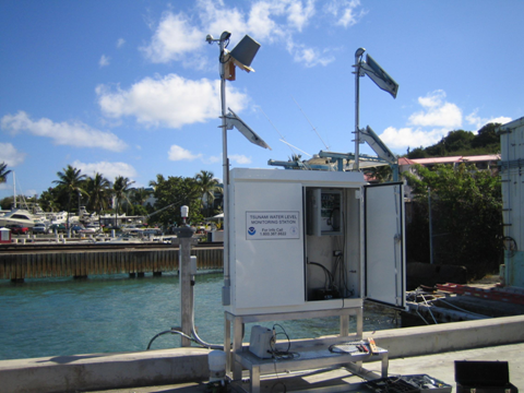 A water level station at St. Croix
